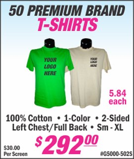 50 premium brand custom screen printed t shirts from lets print baby edison woodbridge middlesex nj