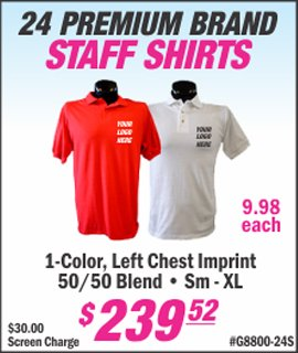custom staff shirts with your company logo from lets print baby edison nj